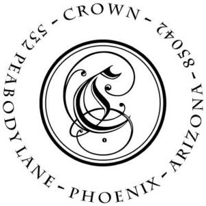 PSA Crown Personalized Stamp