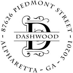 PSA Dashwood Personalized Stamp