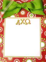 Alpha Chi Omega Perforated Notepad