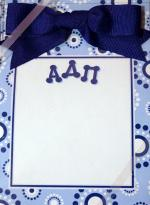 Alpha Delta Pi Perforated Notepad