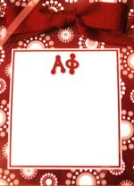 Alpha Phi Perforated Notepad