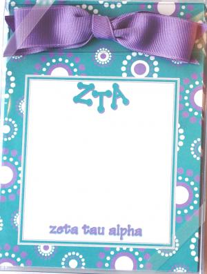 Zeta Tau Alpha Perforated Pad